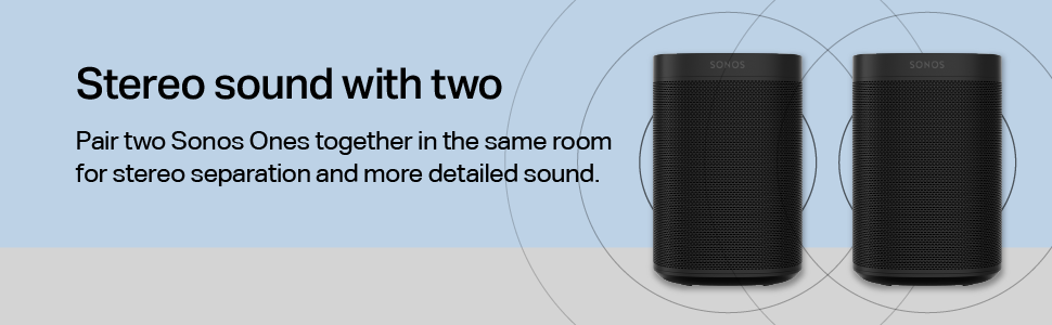 Sonos One SL - Stereo sound with two