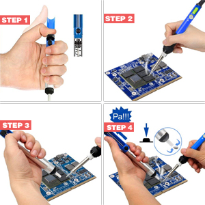soldering iron kit with desoldering pump tip