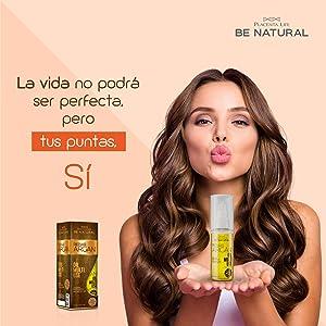 Be Natural, Aceite Repair Argan con aceite de argán, Aceite reparador para el cabello, 50 ml.