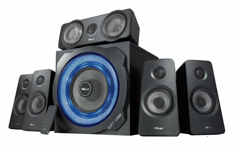 Trust tytan gxt 658 sistema set di altoparlanti surround 5 - Stereo casse wireless ...