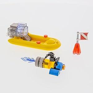 laser pegs, shark, shark toys, legos,block toys, building blocks, light up toys