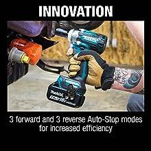 innovatiton three forward and reverse auto-stop models increased efficiency