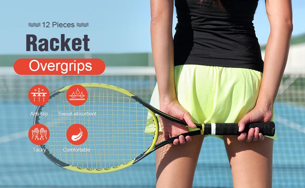 Anti-Slip Absorbent Racket Overgrips Tennis Badminton Sweatband HO