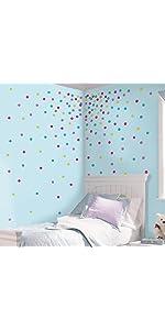 glitter confetti dots peel and stick wall decals, peel and stick wall decals
