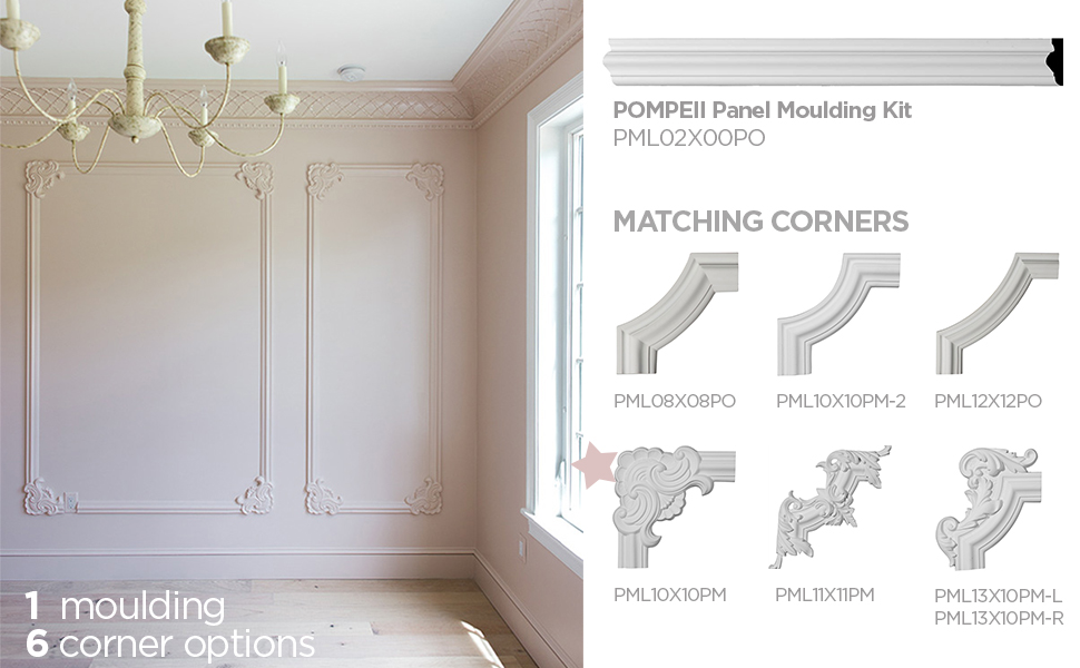 panel moulding systems, panel moulding, wainscot