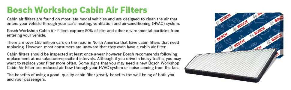 BOSCH Activated Carbon Cabin Filter 1987435503 Single