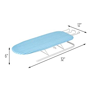 tabletop ironing board with rest