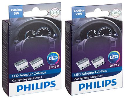 ... to install a Philips LED CANbus enabling adapter to provide the resistor value that the vehicle computer expects to see. Installation takes only minutes ...