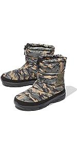 [ザ・ノース・フェイス] ブーツ ヌプシ ブーティー ウォータープルーフ VI ロゴ ウッドランドカモ