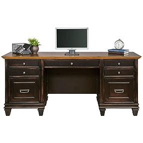 Amazoncom Martin Furniture Hartford Credenza Brown Fully