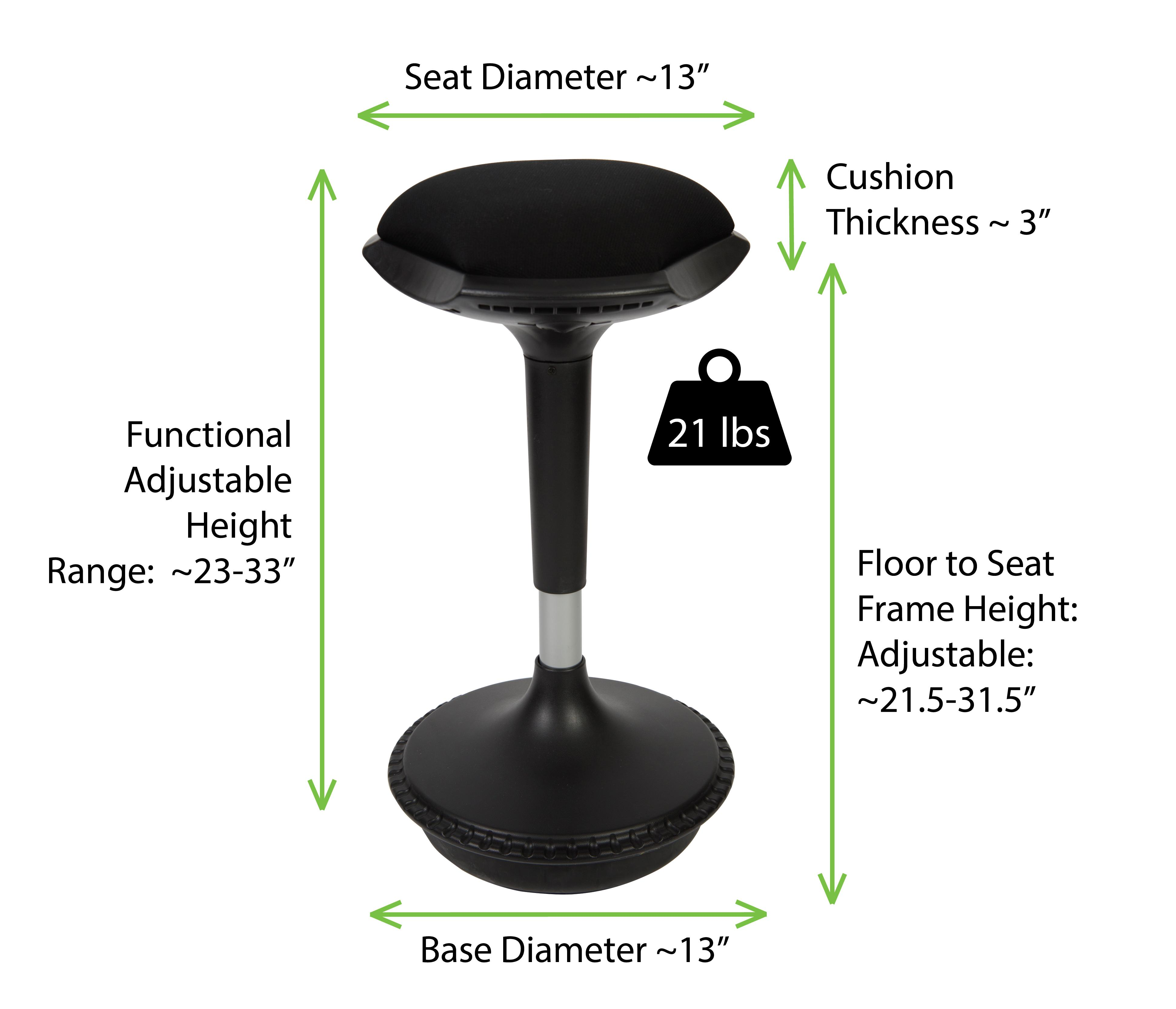 Wobble Stool Adjustable Height Active Sitting Balance Chair For Office Stand Up Desk Best Tall