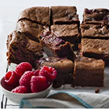 raspberry, brownies