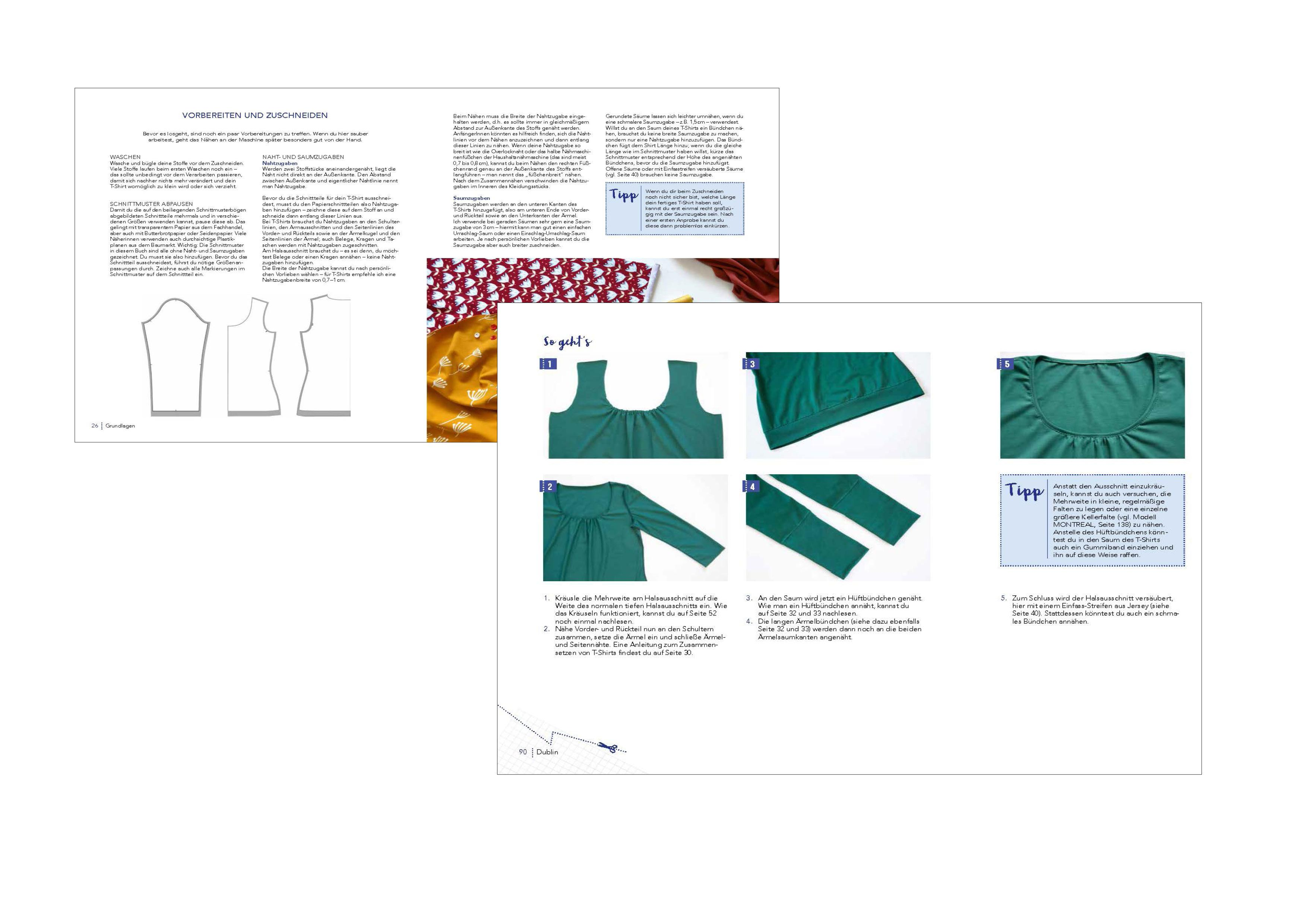Alles Jersey – Shirts und Tops: Schnittteile kombinieren – Über 500 ...