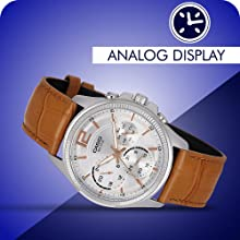 Casio Enticer Analog White Dial Men's Watch - (A1076)