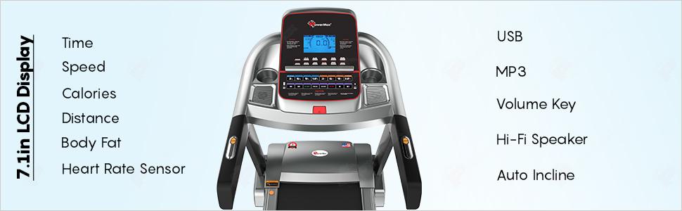 Powermax Fitness TAC-510 4.5HP Motorized Treadmill with LCD Display