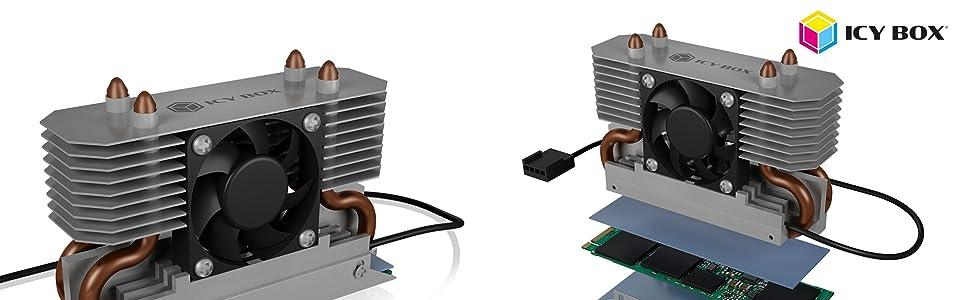 Icy Box M 2 Kühler Mit Lüfter Und Heatpipe Kühlkörper Computer Zubehör