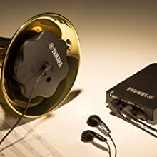 SILENT Brass with the included earbuds and Personal Studio receiver