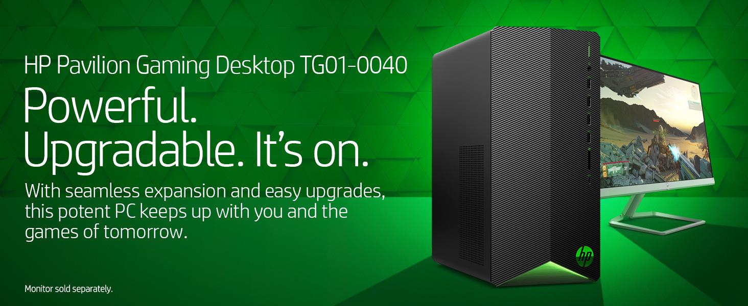 HP Pavilion Gaming Desktop TG01-0040 power powerful upgrade upgradable expansion game gaming