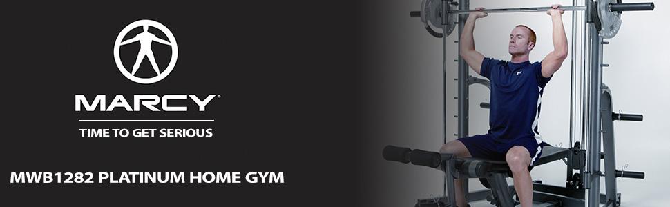 Marcy MWB1282 Home Gym Smith Machine & Weight Bench - 270kg Weight ...