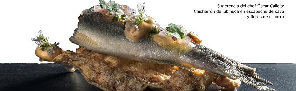 chicharrón; lubina; gourmet; chef; pescado; conserva; anchoa; sardina;