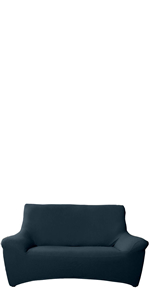 アイリスプラザ 2人掛けソファー 幅115㎝ ネイビー EJ-2107