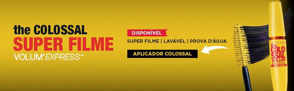 colossal, maybelline, super filme, lavável, provadagua, colossal maybelline