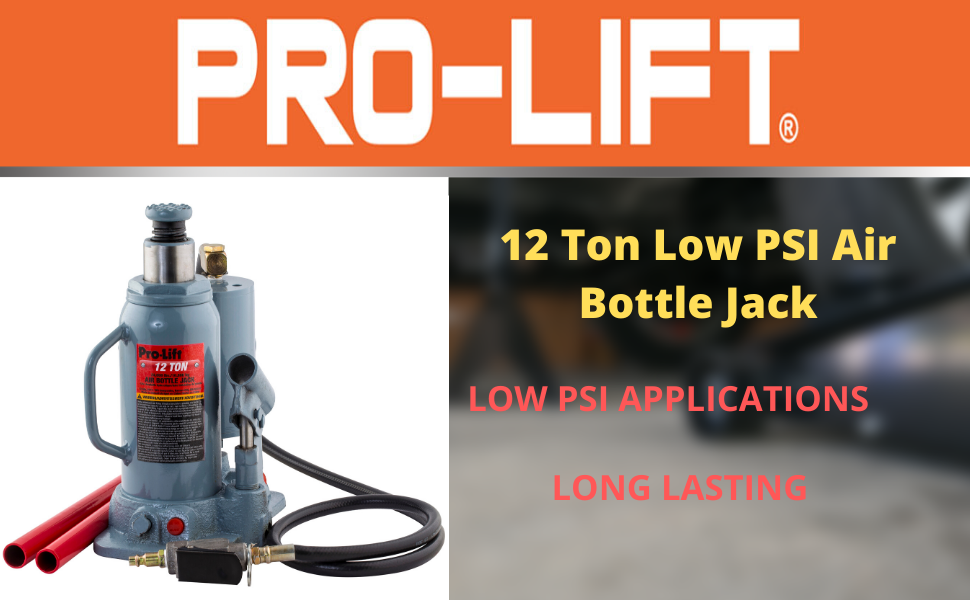 12 Ton Low PSI Air Bottle Jack