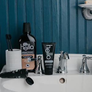charcoal whitening routine