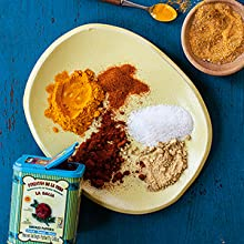 kelewele spice blend salt, ginger, turmeric, paprika, nutmeg, and cayenne pepper