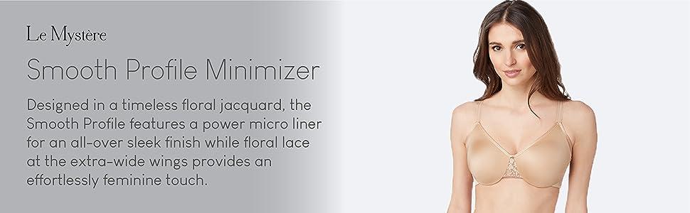 le mystere womens smooth profile minimizer bra intimates