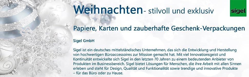 Sigel DS346 Weihnachtskarten Set mit Umschlag, DIN A6, 10 Stück, mit ...