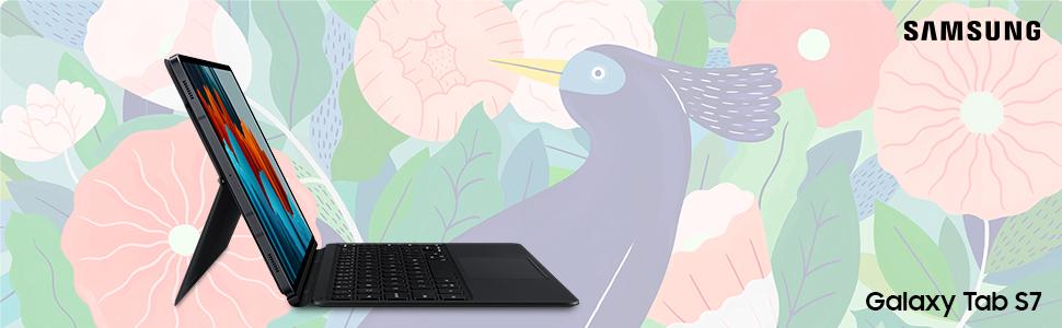 SAMSUNG Funda con Teclado para Galaxy Tab S7+ | Tab S7+ 5G EF-DT970BBGGDE Negro