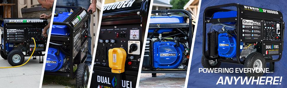 Duromax XP10000EH Dual Fuel Portable 10000 Watt Generator