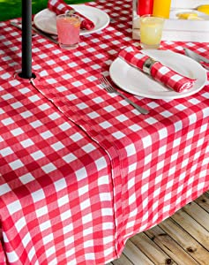Beau Option #1: Zippered Outdoor Tablecloth With Umbrella Hole
