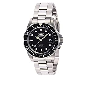 Amazon.com: Invicta Men's 8926 Pro Diver Collection Automatic Watch, Silver-Tone/Black Dial/Half ...