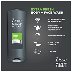 Dove Men+Care Extra Fresh Body + Face Wash