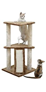 Amazon.com: Go Pet Club Muebles de gato en forma de á ...