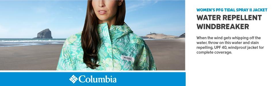 Columbia Women's PFG Tidal Spray II Windbreaker