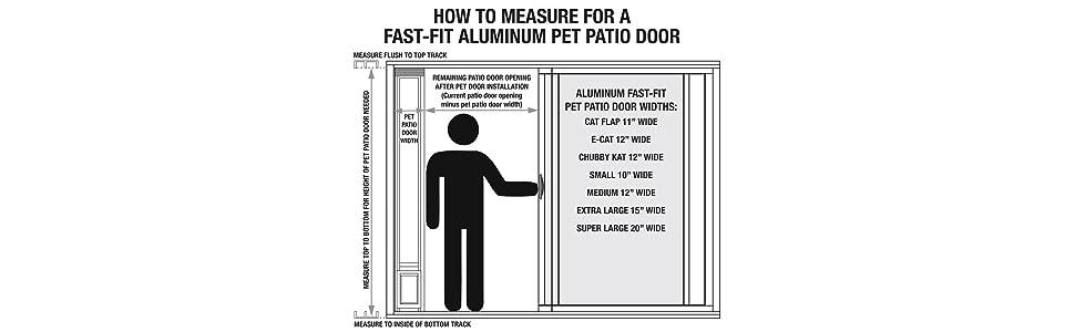 Amazon Ideal Pet Products 96 Fast Fit Aluminum Pet Patio Door