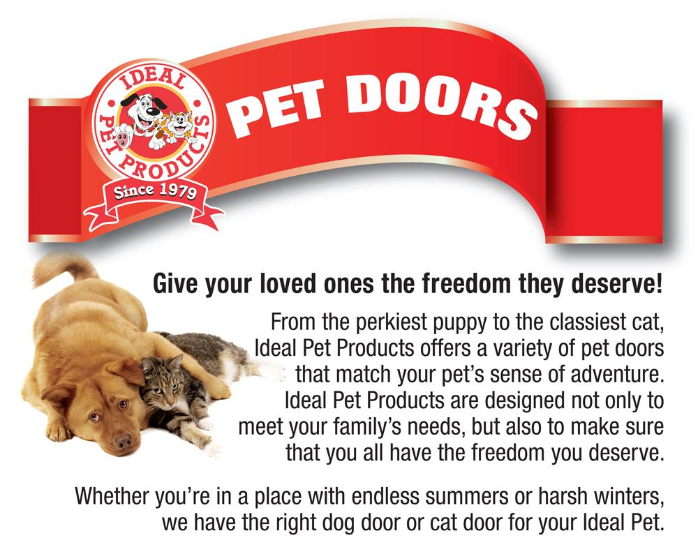 Ideal pet products vip vinyl insulated pet for Ideal dog door