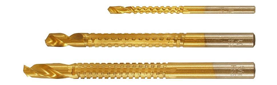 3 Piece Best Way Tools 51626 High Speed Rasp Drill