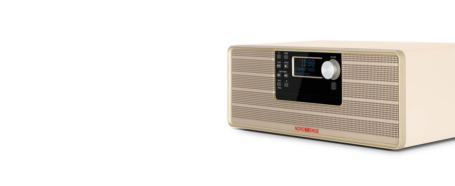 Nordmende Transita 320 Hochwertiges Stereo Micro System Mit Cd Spieler Bluetooth Dab Und Ukw Empfang Beige Heimkino Tv Video