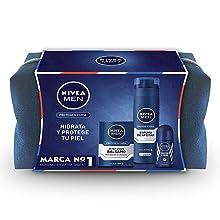 NIVEA MEN Pack Creme, set de regalo con crema hidratante NIVEA MEN Creme (1 x 150 ml), spray desodorante invisible (1 x 200 ml) y gel de hombre para ducha (1 x 250 ml): Amazon.es