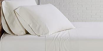 sheet set ivory white