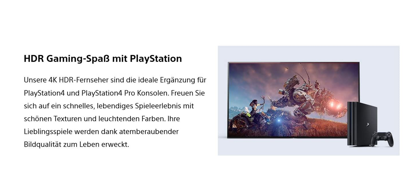 Sony Fernseher; 4K; HDR; Smart TV; XF7004; PlayStation4; PS4; Gaming