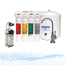 RO Pure with Brushed Nickel faucet 4-Stage Reverse Osmosis Water Filtration System Watts Premier WP531407