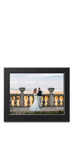 Slim Digital Photo Frame with Automatic Slideshow - 8 inch