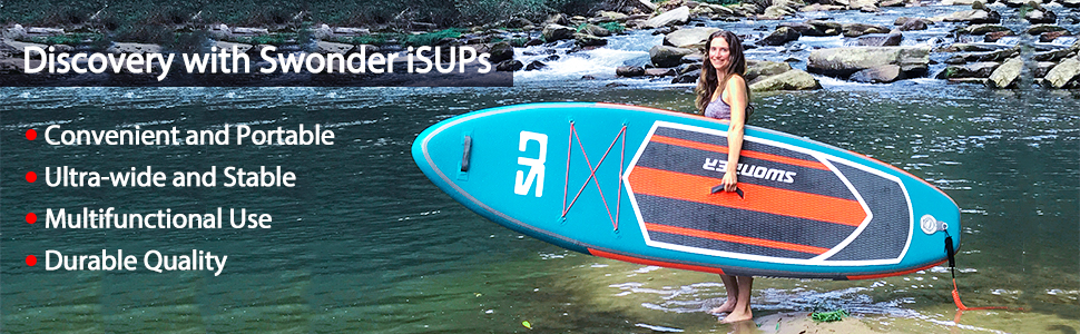 Swonder Classic Inflatable Stand Up Paddle Board