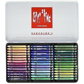 Neocolor Ii Watercolor Crayon 498 Mtl Silver