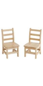 10in Three Rung Ladderback Chair - Assembled